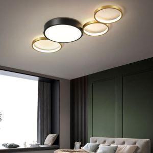 LEDシーリングライト リビング照明 ダイニング照明 天井照明 子供屋 寝室 居間 黒金色 LED対応