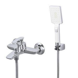 浴室シャワー水栓 バス蛇口付き ハンドシャワー 混合水栓 浴槽蛇口 風呂用 3色