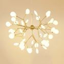 LEDペンダントライト 照明器具 リビング照明 寝室照明 店舗照明 北欧風 枝型 金色/黒色 27/36/45/54/63灯