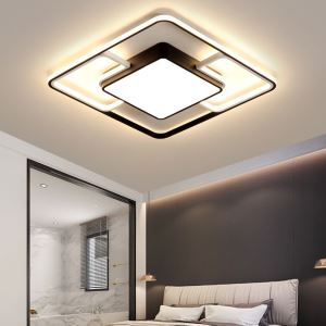 LEDシーリングライト リビング照明 ダイニング照明 寝室照明 方形 黒白色 LED対応