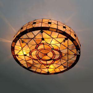 シーリングライト ステンドグラスランプ 天井照明 花柄 3灯
