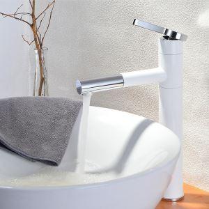 洗面蛇口 スプレー混合栓 洗髪用水栓 ホース引出式 水道蛇口 回転可 2色 H323mm