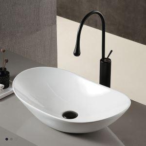 手洗い鉢 洗面ボウル 手洗器 洗面ボール 陶器 置き型 排水栓&排水トラップ付 61cm