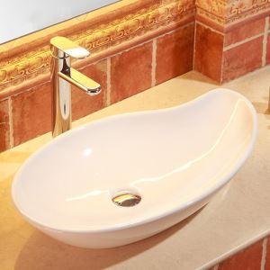 手洗い鉢 洗面ボウル 手洗器 洗面ボール 陶器 置き型 排水栓&排水トラップ付 65cm