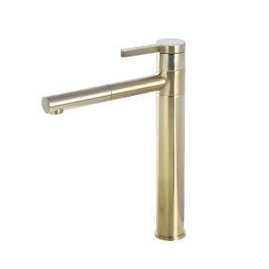 洗面蛇口 バス水栓 冷熱混合栓 水道蛇口 回転可能 2色 H31.8cm
