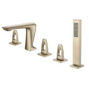 浴槽水栓 バス蛇口 シャワー混合栓 ハンドシャワー付 水道蛇口 5点 4色