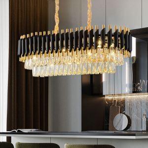 ペンダントライト 照明器具 リビング照明 店舗照明 吹き抜け照明 豪華 黒金色 L75cm 10灯