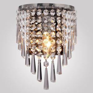 壁掛けライト ウォールランプ 玄関照明 ブラケット 照明器具 クリスタル 半円形 1灯