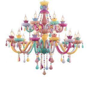 シャンデリア クリスタル リビング照明 寝室照明 子供屋照明 店舗 カラフル マカロン色