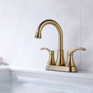 洗面蛇口 バス水栓 冷熱混合栓 ステンレス製 手洗器蛇口 水道蛇口 2ハンドル 2色