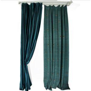 遮光カーテン オーダーカーテン リビング 蜜蜂柄 捺染 綿&麻 田舎風(1枚)