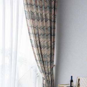 遮光カーテン オーダーカーテン リビング 縞柄 捺染 北欧風 オシャレ(1枚)