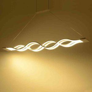 LEDペンダントライト 照明器具 天井照明 アクリル照明 波型 LED対応 2層 CI379