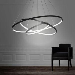 LEDペンダントライト 照明器具 リビング照明 店舗照明 天井照明 オシャレ 三環 80+60+40cm