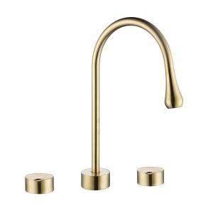 洗面蛇口 バス水栓 冷熱混合栓 立水栓 水道蛇口 2ハンドル 3色
