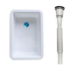 一層シンク 簡易流し台 ガーデンシンク PVC製 排水栓&排水トラップ付 ホルダーなし