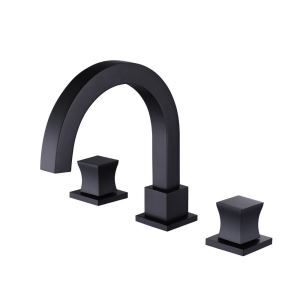 洗面蛇口 バス水栓 冷熱混合栓 立水栓 水道蛇口 2ハンドル 2色