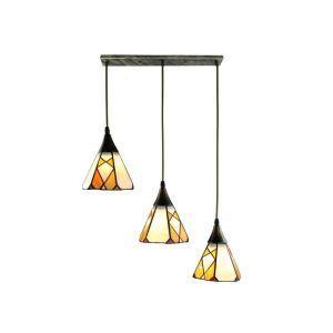 ペンダントライト ステンドグラスランプ ダイニング照明 リビング照明 寝室照明 3灯