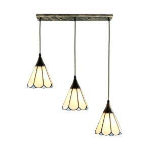 ペンダントライト ステンドグラスランプ ダイニング照明 リビング照明 寝室照明 花型 3灯