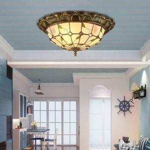 シーリングライト ステンドグラスランプ リビング照明 寝室照明 天井照明 葉柄 3灯/4灯