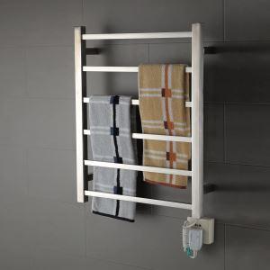 壁掛けタオルウォーマー バスヒーター タオルハンガー+簡易乾燥 ステンレス鋼 クロム 60W