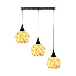 ペンダントライト ダイニング照明 リビング照明 寝室照明 天井照明 シェル ポイント柄 3灯