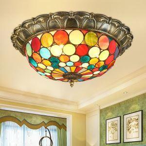 シーリングライト ステンドグラスランプ リビング照明 寝室照明 天井照明 3灯/4灯