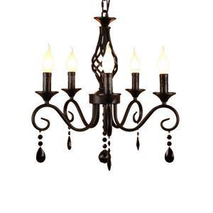 シャンデリア リビング照明 ダイニング照明 寝室照明 北欧風 黒色 5灯