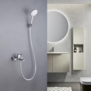 浴室シャワー水栓 バス蛇口 ハンドシャワー付き 混合水栓 浴槽蛇口 風呂用 4色