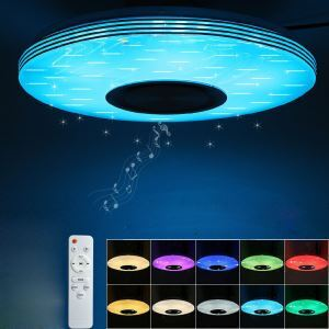 LEDシーリングライト リビング照明 リモコン付 タイマー付 APP制御 Bluetooth接続 無段階調光調色 8畳 36W D40cm