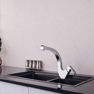 キッチン水栓 台所蛇口 冷熱混合栓 水道蛇口 水栓金具 4色