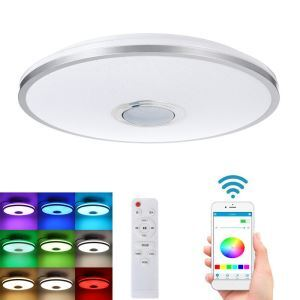 LEDシーリングライト リビング照明 リモコン付 タイマー付 APP制御 Bluetooth接続 無段階調光調色 8畳 36W D33cm