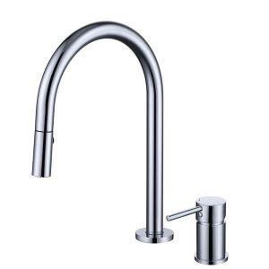 洗面蛇口 スプレー混合栓 洗髪用水栓 ホース引出式 水道蛇口 シングルレバー 3色