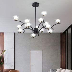 LEDシャンデリア ダイニング照明 リビング照明 寝室照明 枝型 9/12/15灯 2色