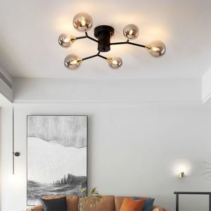 LEDシーリングライト ダイニング照明 リビング照明 寝室照明 魔豆型 6/8/10灯 2色