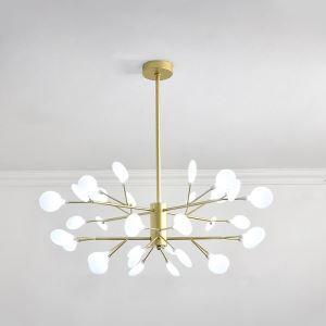 LEDシャンデリア リビング照明 ダイニング照明 寝室照明 枝型 32灯 黒色 金色