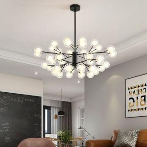 LEDシャンデリア リビング照明 ダイニング照明 寝室照明 枝型 40灯 黒色 金色