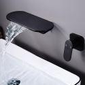 壁付水栓 洗面蛇口 バス水栓 冷熱混合水栓 水道蛇口 2色