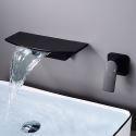 壁付水栓 洗面蛇口 バス水栓 水道蛇口 冷熱混合栓 手洗器蛇口 弧型 2色