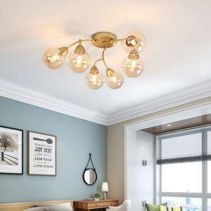 LEDシーリングライト ダイニング照明 リビング照明 寝室照明 ブドウ串型 6/12灯 金色
