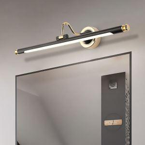 LEDミラーライト 壁掛け照明 ウォールランプ 化粧室ブラケット 180度調整 黒金色