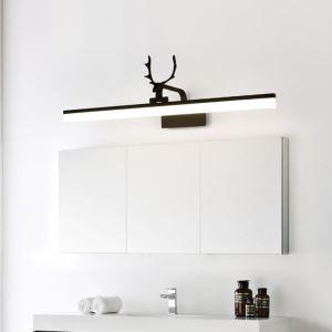 LEDミラーライト 壁掛け照明 ウォールランプ 化粧室ブラケット 180度調整 鹿角型 2色