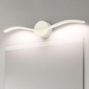 LEDミラーライト 壁掛け照明 ウォールランプ 化粧室ブラケット 波型 2色