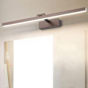 LEDミラーライト 壁掛け照明 ウォールランプ 化粧室ブラケット 180度調整 3色