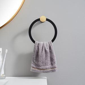 浴室タオルリング タオル掛け タオル収納 壁掛けハンガー バスアクセサリー 2色