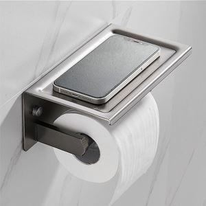 トイレットペーパーホルダー 紙巻器 トイレ用品 ペーパー収納 ステンレス鋼 ガングレー
