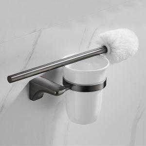 トイレブラシホルダー トイレ用品 トイレブラシ&ポット付き ステンレス鋼 ガングレー