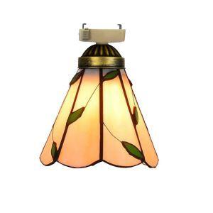 シーリングライト ステンドグラスランプ 玄関照明 ダイニング照明 簡単取付 D15cm 1灯 葉柄