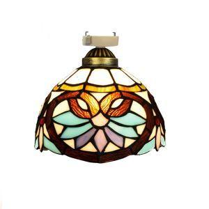 シーリングライト ステンドグラスランプ 玄関照明 ダイニング照明 簡単取付 D20cm 1灯 OFC1014