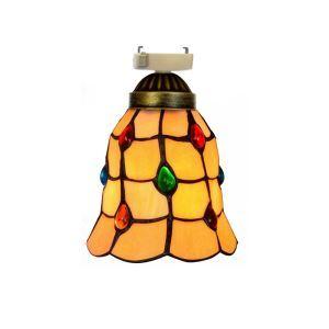 シーリングライト ステンドグラスランプ 玄関照明 ダイニング照明 簡単取付 D15cm 1灯 黄色